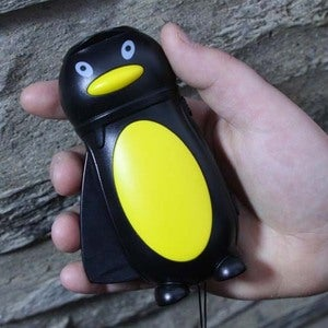 Image of Penguin hand powered flashlight