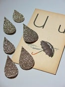Image of Glitter Raindrops - set of 6