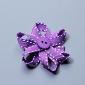 Image of Mini purple stitching bow