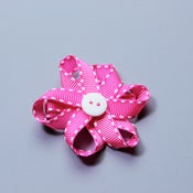 Image of Mini flower bow with stitching