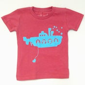 Image of robo submarine infant t-shirt - peony