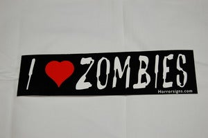 Image of I Love Zombies Bumper Sticker