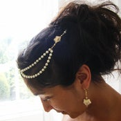 Image of ivy vine - bridal hair dress set