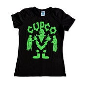 Image of DEMON BLOOD TEE SHIRT!! (WOMENS FLUORO GREEN)