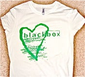 Image of Blackbox Girlie Heart T-Shirt (Lime Green on White)