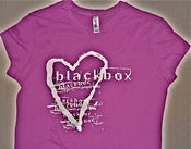 Image of Blackbox Girlie Heart T-Shirt (White on Purple)