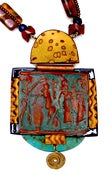 Image of Antique Polymer Sumerian Hinged Pendant