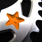 Image of Orange stars - Silver chainring