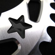 Image of Black stars - Silver chainring