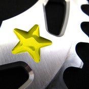 Image of Yellow stars - Silver chainring