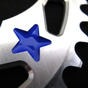 Image of Blue stars - Silver chainring