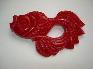 Image of Japanese style Koi Fish brooch - Black or Ivory
