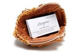 Image of BASEBALL GLOVE BIZ CARD HOLDER