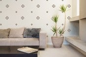 Image of Vinyl Wall Sticker Decal Art - Small flower pattern (wallpaper look)
