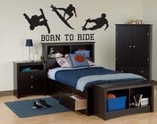Image of Vinyl Wall Sticker Decal Art - Born To Ride - Surfing, Scateboarding, Snowboarding