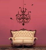 Image of Vinyl Wall Sticker Decal Art - Chandelier Wall Decal