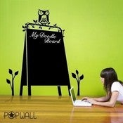 Image of Kids Vinyl Wall Sticker Decal - My Black Board Chalk Board- 060