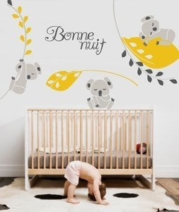 Image of Vinyl Wall Sticker Decal Art - Koala Nighty Night