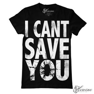 Image of I CAN'T SAVE YOU Black Unisex