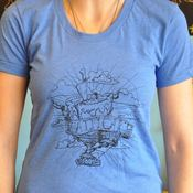 Image of Women's Official Pattycake T-shirt Blue