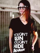 Image of YOU CAN'T RUN - UNISEX BLACK V-NECK