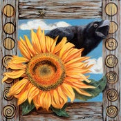 Image of Crow &amp; Sunflower - Art Prints
