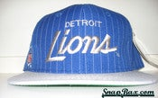 Image of VINTAGE DETROIT LIONS PINSTRIPED SCRIPT SNAPBACK