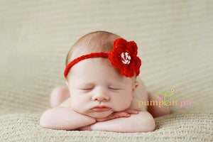 Image of Sparkly Red Flower Headband