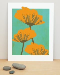 "Image of ""California Poppies"" art print"