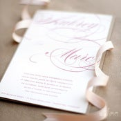 Image of Flourish Calligraphy Invitation Set