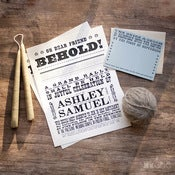 Image of Broadside Poster Invitation Set
