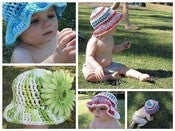 Image of Brimmed Sun Hat Crochet Pattern 