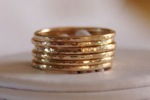 Image of 14K Gold Filled Stacking / Stackable Rings - wedding bands - Set of SIX, sizes 4,5,6,7,8,9,10,11