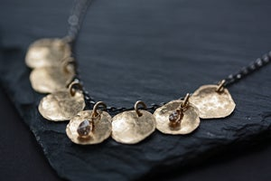 Image of Chocolate Diamond Petal Necklace