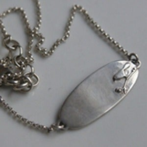 Image of Sterling Silver Baby Bird Necklace