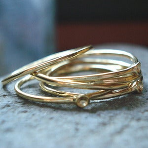 Image of 14K Gold Muse Rings