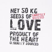 Image of Handmade tea towel  love message 