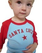 Image of santa cruz toddler tee-blue/red