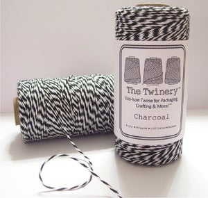 Image of Charcoal - Black &amp; White Eco-Luxe Baker's Twine