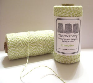 Image of Honeydew - Light Chartreuse Green &amp; White Baker's Twine