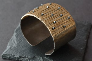Image of Black Garnet Cuff Bracelet