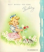 Image of Vintage Greeting Card - Birthday - 1940s