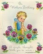 Image of Vintage Greeting Card - Mother's Birthday - 1947