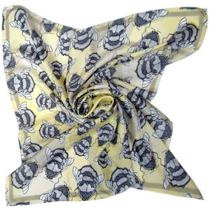 Image of 'Runny Honey' Large Square Silk Scarf