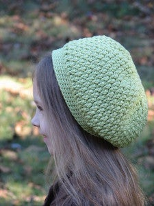 Image of Slouchy Textured Beret Crochet Pattern