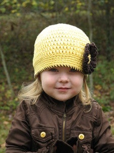 Image of Sunshine Flower Beanie Crochet Pattern PDF 039
