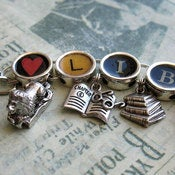 Image of Love Library Book Lovers Charm Bracelet