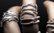Image of Elvish band: set of 3 twig stacker rings