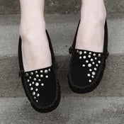 Image of Black Stud Moccasin