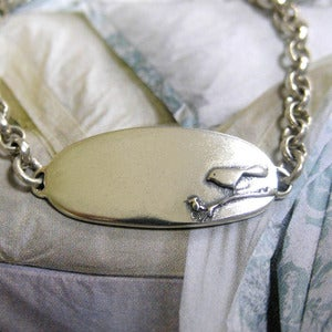 Image of Sterling Silver Baby Bird ID Bracelet